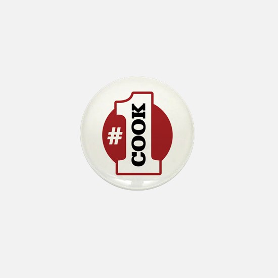 #1 Cook Mini Button (10 pack)