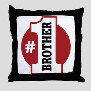 #1 Brother Throw Pillow