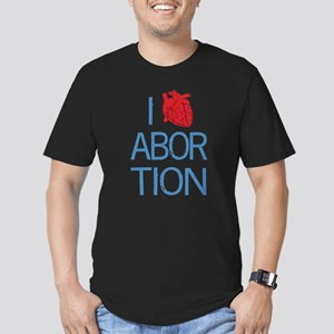 I Heart Abortion Men's Fitted T-Shirt (dark)