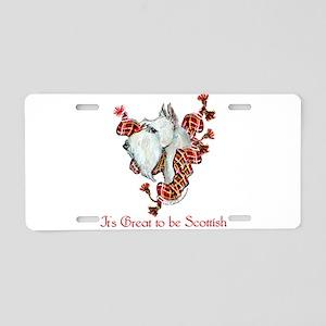 Proud Wheaten Scottie Aluminum License Plate
