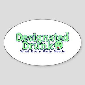 Designated Drunk Sticker (Oval)