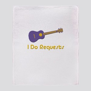 funny ukulele Throw Blanket