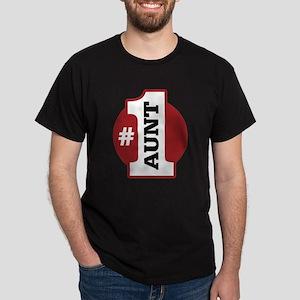 #1 Aunt Dark T-Shirt