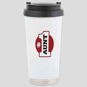 #1 Aunt Stainless Steel Travel Mug