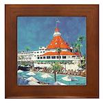 Poolside del Coronado Framed Tile