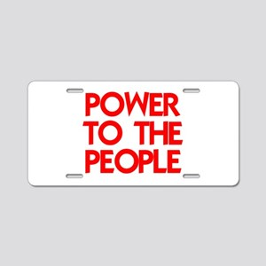 POWER TO THE PEOPLE Aluminum License Plate
