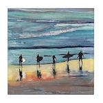 Surfer Beach Tile Coaster
