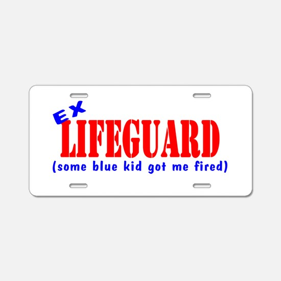 Ex Lifeguard Aluminum License Plate