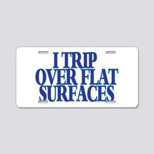 Trip Over Aluminum License Plate