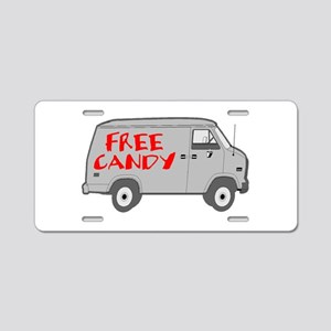 Free Candy Aluminum License Plate