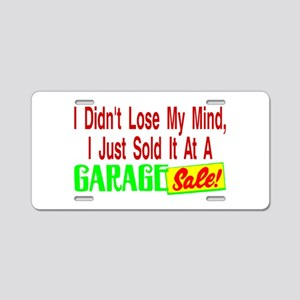 Garage Sale Aluminum License Plate