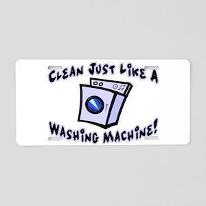 Washing Machine Aluminum License Plate