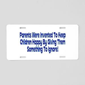 Parents Were Invented Aluminum License Plate