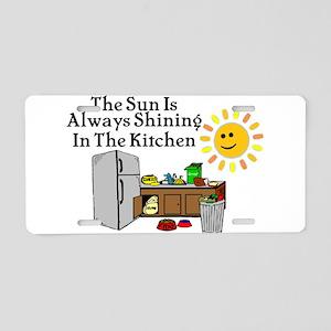 Sunny Kitchen Aluminum License Plate