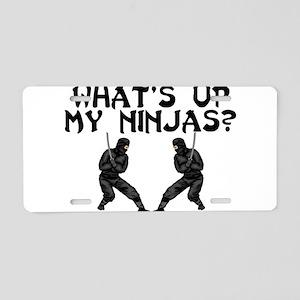 My Ninjas Aluminum License Plate