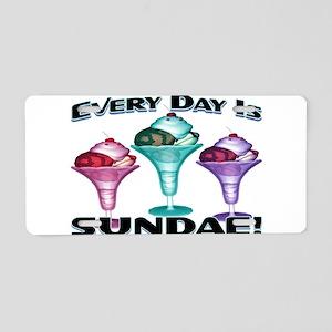 Sundae Everyday Aluminum License Plate