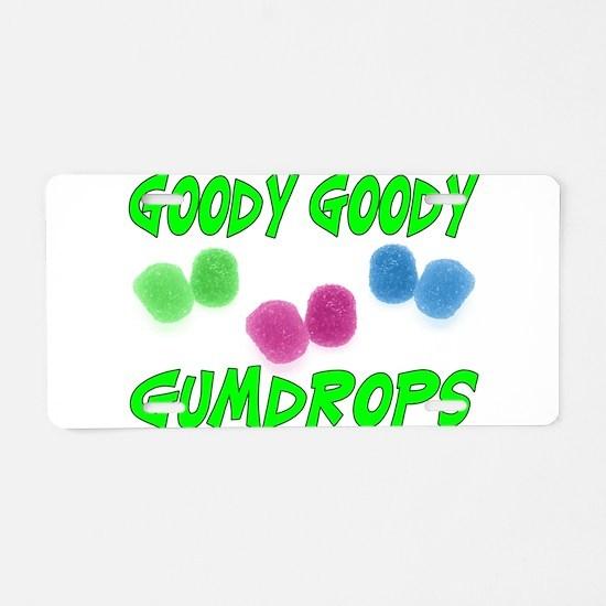 Goody Gumdrops Aluminum License Plate