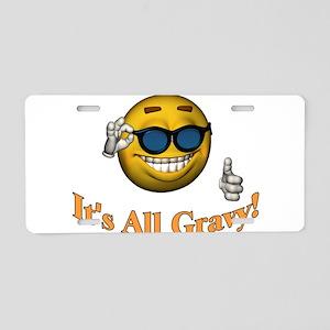 All Gravy Aluminum License Plate