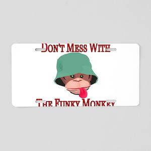 Funky Monkey Aluminum License Plate