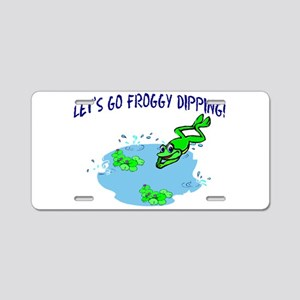 Froggy Dipping Aluminum License Plate
