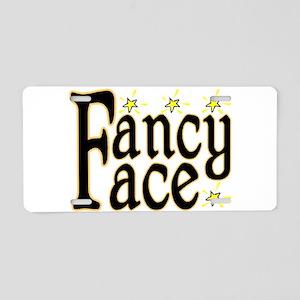 Fancy Face Aluminum License Plate