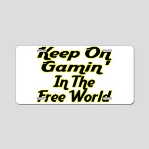 Free World Gaming Aluminum License Plate