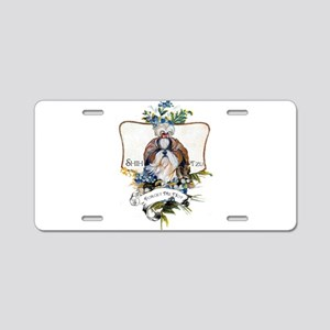 Shih Tzu Forget Me Not Aluminum License Plate