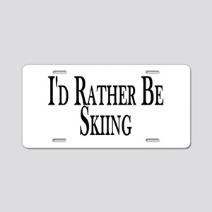 Rather Be Skiing Aluminum License Plate