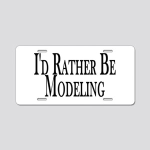 Rather Be Modeling Aluminum License Plate