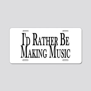 Rather Make Music Aluminum License Plate