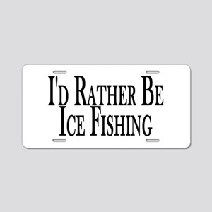 Rather Ice Fish Aluminum License Plate