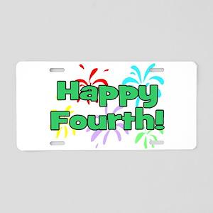 Happy Fourth! Aluminum License Plate