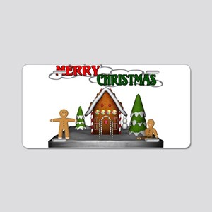 Gingerbread Christmas Aluminum License Plate