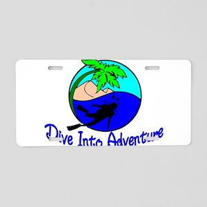 Dive Into Adventure Aluminum License Plate