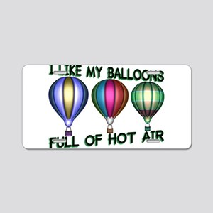 Hot Air Balloon Aluminum License Plate
