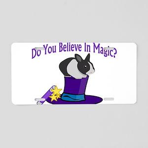 Believe In Magic Aluminum License Plate