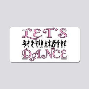 Let's Dance Aluminum License Plate