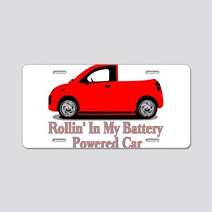 Battery Powered Car Aluminum License Plate