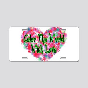 Color The World Aluminum License Plate