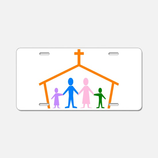 House Of Faith Aluminum License Plate