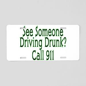 Call 911 Aluminum License Plate