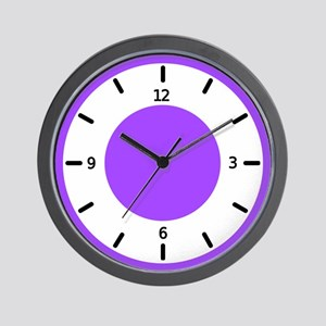 <b>BASIC COLOR CLOCKS:</b> Purple Wall Clock