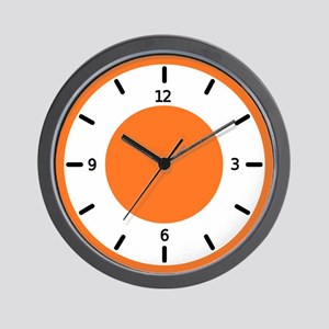 <b>BASIC COLOR CLOCKS:</b> Orange Wall Clock