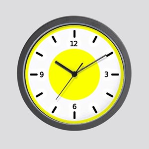 <b>BASIC COLOR CLOCKS:</b> Yellow Wall Clock