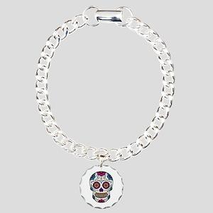 Sugar Skull Charm Bracelet, One Charm