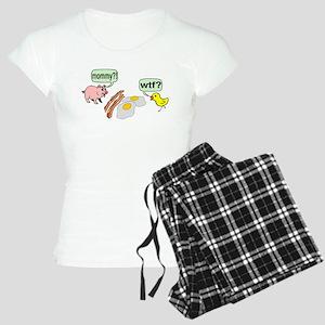 Bacon And Eggs Nightmare Women's Light Pajamas