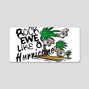 Rock Ewe Aluminum License Plate