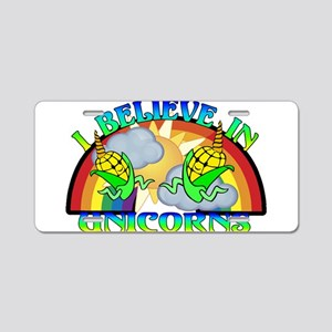 I Believe In Unicorns Aluminum License Plate