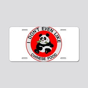 I Hate Chinese Food Aluminum License Plate