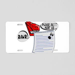 Evil Stapler Aluminum License Plate